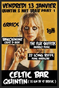 Bakounine + 22 Long Riffs + The Flue Sniffers au Celtic Bar